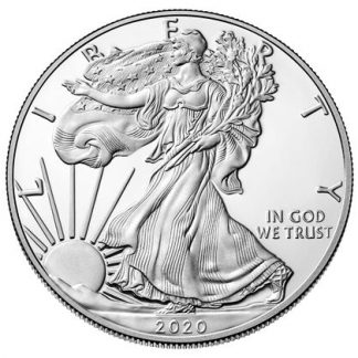 2020 American Silver Eagle coins with the historic Walking Liberty design