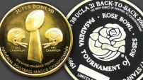 Rose Bowl & Super Bowl Coins Custom