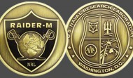 Navy Raiders Military Challenge Coin