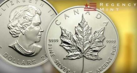 Canadian Maple Leaf Silver Bullion