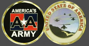 Military Challenge Coins - America's Army