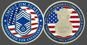 Military Challenge Coin - Freedom is not free