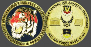 Military Challenge Coin - Maintenance Ready Air Force Tiger