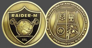 Military Challenge Coins - Navy Raiders