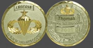 Military Challenge Coins - Senior Paratrooper