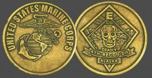 US Marine Corps Military Challenge Coins