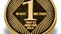 1-oz Regency Mint Gold Rounds reverse