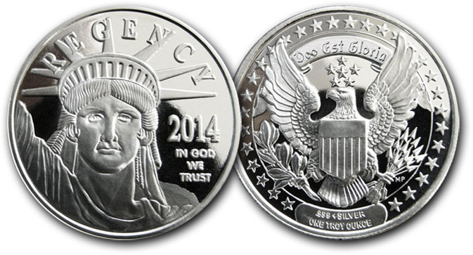 Regency Mint Announces New Silver Round 2014 Coin Design