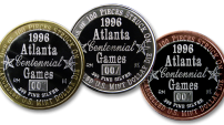 Discontinued Bimetallic Olympic Commemorative Medallions